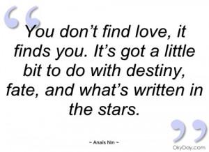 you don't find love anaïs nin