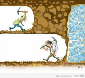 Never stop trying to reach your goal!