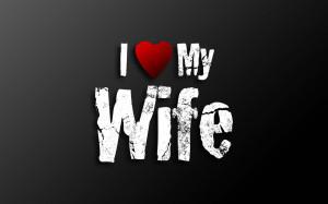 Love My Wife Papel de Parede Imagem