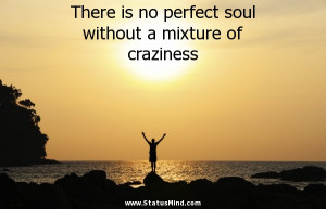 ... soul without a mixture of craziness - Cool Quotes - StatusMind.com