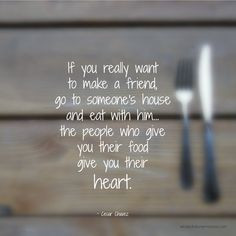 Sunday Quote: Making Friends - What's For Dinner, Mama?