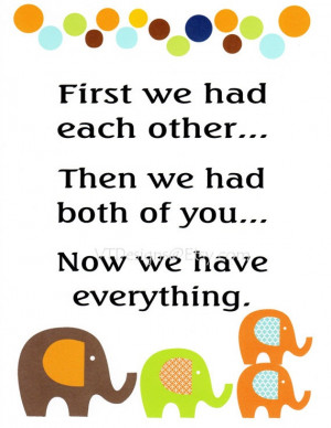 Baby Twin Quotes Baby boy twins - kids wall art baby boy nursery decor ...