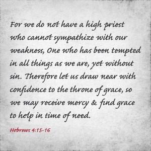 hebrew 4:15-16 #quote #verse