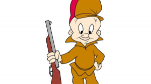 Elmer Fudd Hunting Cartoons Car Window Wall Laptop Decal