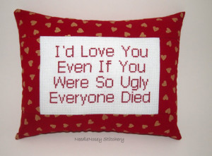 ... -stitch-pillow-funny-quote-red-and-gold-pillow-ugly-love-quote_o.jpg