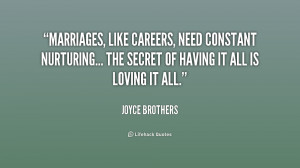 Marriages, like careers, need constant nurturing... the secret of ...