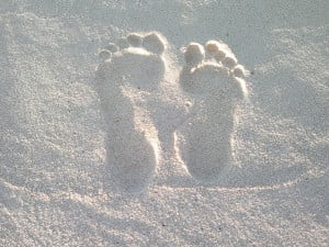 Feet In The Sand by Swasha