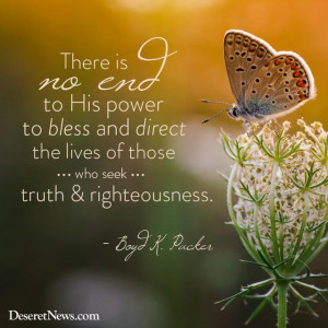 There is no end to his power to bless and direct the lives of those ...