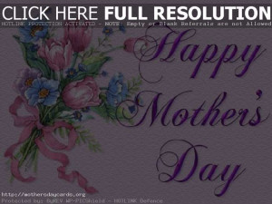 Happy Mothers Day Bokeh Flowers Cards