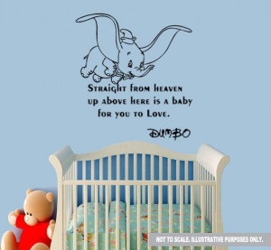 Dumbo Wall Quote Decal Sticker by DesignerWallz on Etsy, £12.99