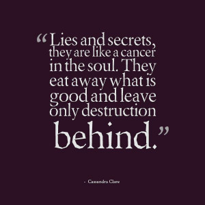 Lies and secrets