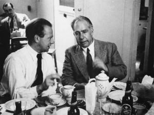 Werner Heisenberg y Niels Bohr