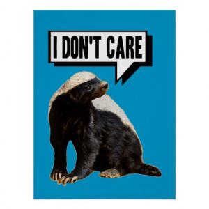 Funny Talking Honey Badger Print