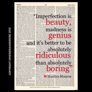 ... www.etsy.com/listing/122100295/marilyn-monroe-quote-imperfection-is