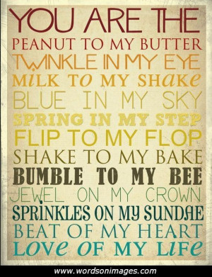 Rhyming love quotes