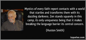 faith report contacts with a world that startles and transforms them ...