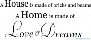 House Is Made Of Bricks and Beams
