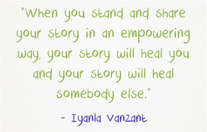 Stand and share your story.