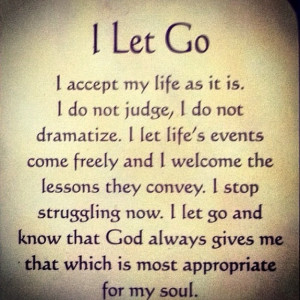 let go! I let God's will ... #quotes #meditations #God #Catholic # ...