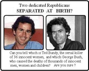 Reply #13: I think he looks (and acts) more like Ted Bundy than any ...