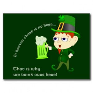 Leprechaun Beer St. Patrick's Day Postcard