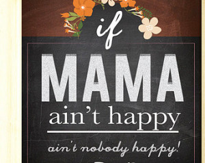 Rustic Modern Chalkboard Style Kitc hen Art Mom Quotes Poster ...