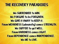 Recovery Paradoxes! #recovery #paradoxes #quotes #recoveryquotes ...