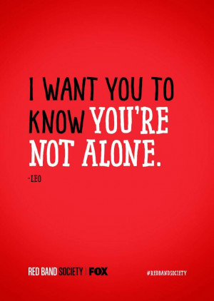 want you to know you're not alone.