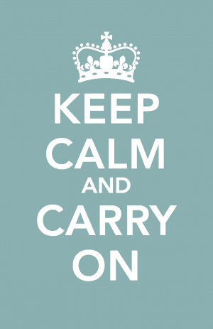 Keep calm and...read this blog!
