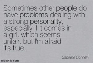Gabrielle-Donnelly Quote strong personality