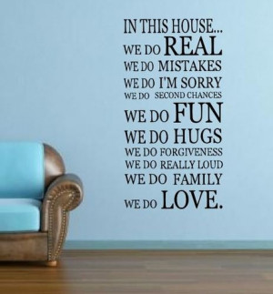 WE DO IN THIS HOUSE Wall Sticker Mural Art Kitchen quote rc-45