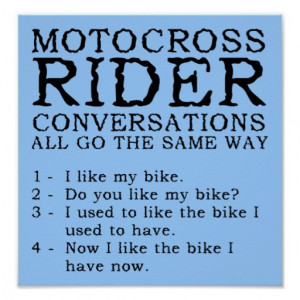 Motocross Conversations Funny Dirt Bike Poster Sig