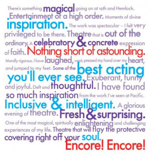 Musical Theatre Quotes Pacific theatre history