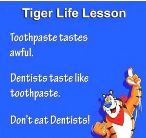 Tiger life lesson