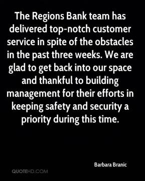 - The Regions Bank team has delivered top-notch customer service ...