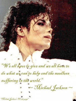 Famous Quotes By Michael Jackson Re: famous michael jackson