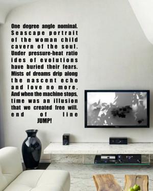 ... art inspired by Battlestar Galactica BSG Hybrid quote vinyl wall decal