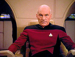 Jean-Luc Picard played by Patrick Stewart