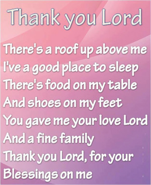 Prayer Quotes thank you Lord, for your blessing on me