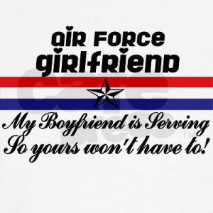 USAF Girlfriend My Boyfriend Is Long Sleeve T-Shirt