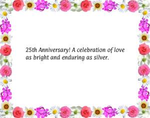 Th Anniversary Celebration 25th Greetingsjpg
