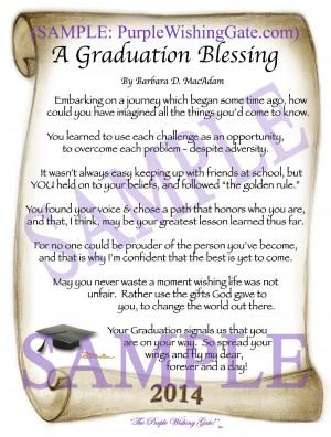 HOME Graduation Blessing A Graduation Blessing