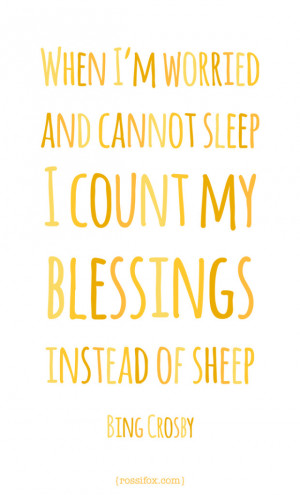 today i count the many blessings