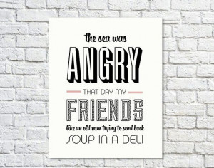 Typography Print Seinfeld Quote George Costanza Wall by paperchat, $24 ...
