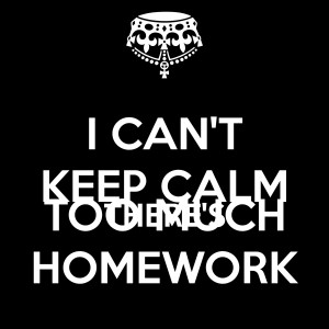Homework too much