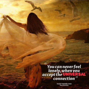 Quotes Picture: you can never feel lonely, when you accept the ...