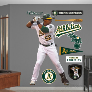 Oakland A s (Athletics) Yoenis Cespedes Wall Decal Sticker Wall Decal