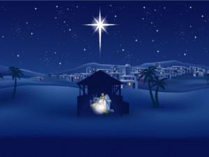 Christian Graphic: The Birth Of Jesus Papel de Parede Imagem