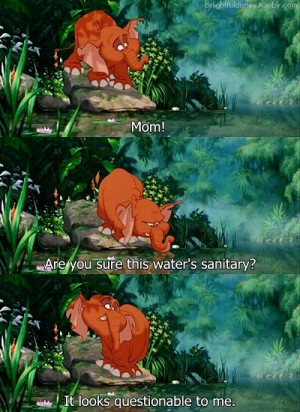 ... Tantor Doesn't Think The Water Is Sanitary In Disney's Tarzan