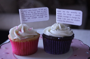 Inspirational quote cupcake toppers